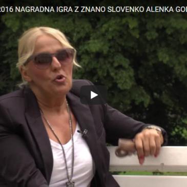 Nagradna igra z znano Slovenko Alenka Godec