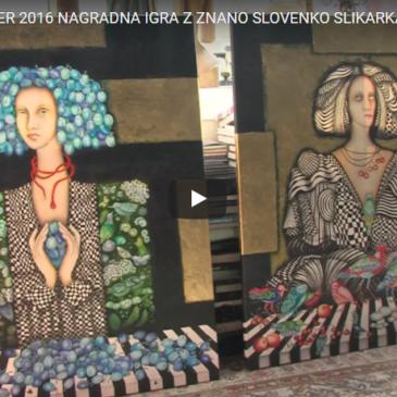 Nagradna igra z znano Slovenko slikarka Irena Polanec