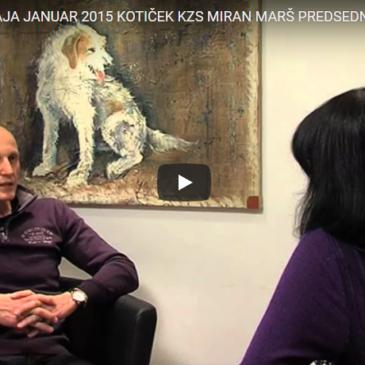 Kotiček KZS Miran Marš- predsednik komisije za Šolanje psov