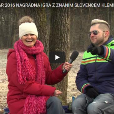 Nagradna igra z znanim Slovencem Klemnom Bunderlo