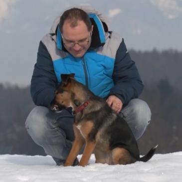 Boštjan Vidic in njegova psička Romi